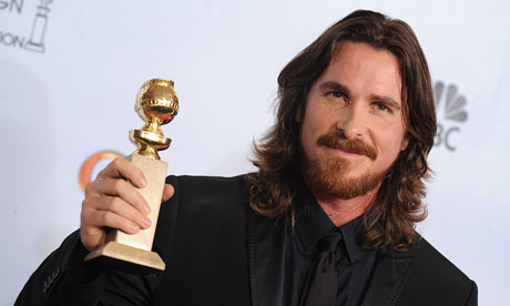 Christian Bale at the Golden Globes on 16 January 2011.