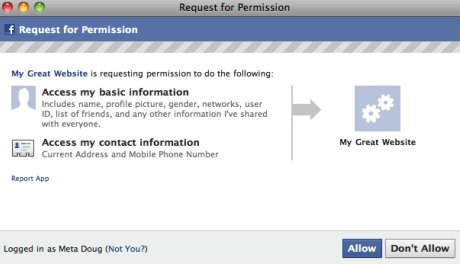 Facebook's latest API allows developers access to users' address and mobile number