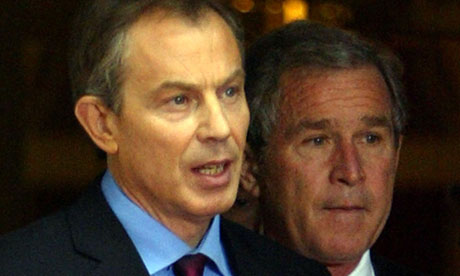 Tony Blair and George Bush in 2003.