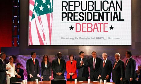 Republican presidential candidates prepare for a Bloomberg debate