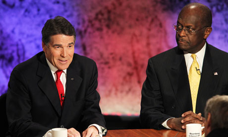 Rick Perry and Herman Cain