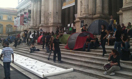 Occupy Wall Street inspires protests in Rome