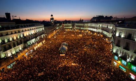 Demonstration in Puerta del Sol square in Madrid