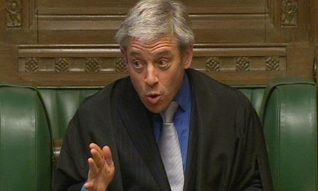 John Bercow no time for time wasters