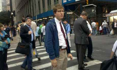 New York 'hipster cop' on duty at the Occupy Wall Street march
