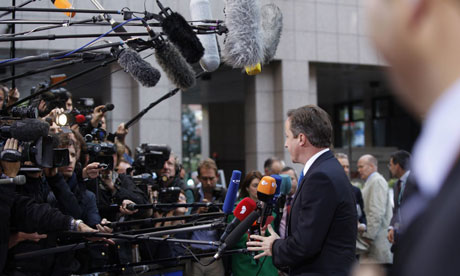 David Cameron arrives for an EU summit in Brussels o