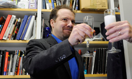 Adam Riess celebrates winning the 2011 Nobel Prize in Physics