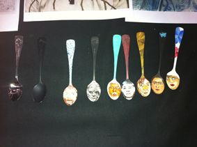 spoons painted