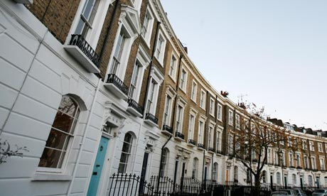 A terrace of Georgian houses, Islington