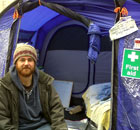 Steve Rushton at Occupy London on 17 November 2011.