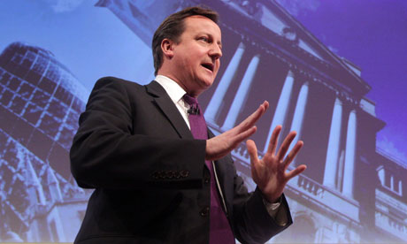 David Cameron speaks at the CBI conference in London.