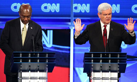GOP presidential candidates Herman Cain and Newt Ginrgrich