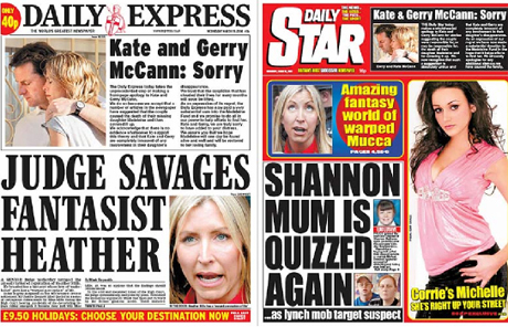 Daily Express apology to the McCanns