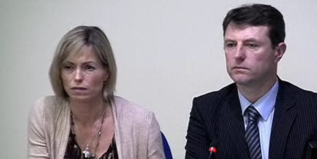 Kate and Gerry McCann at Leveson