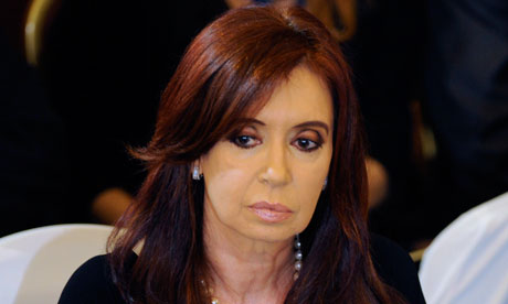 The Argentinian president, Cristina Kirchner, thanked fellow South American heads of state for their 'solidarity' in banning Falklands boats. Photograph: Pablo Porciuncula/AFP/Getty Images