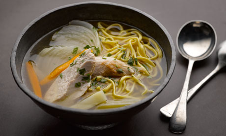 Chicken Soup With Egg Vermicelli Recipe Plus Parmesan Rice With Chicken And Buttered Almonds