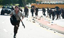 Shane on the run in The Walking Dead