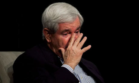 Newt Gingrich in tears
