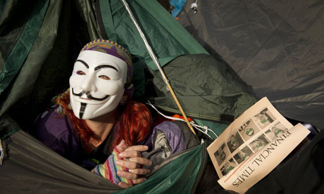 'Occupy London' protest outside St Paul's Cathedral