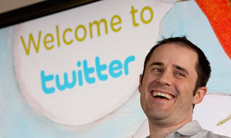 Twitter co-founder Evan Williams speaks at Twitter headquarters