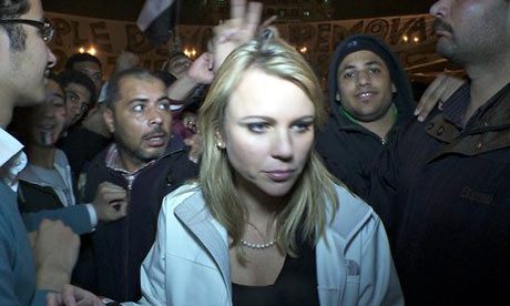 Lara Logan in Tahrir Square