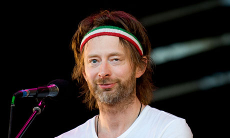 Thom Yorke of Radiohead at Glastonbury 2010