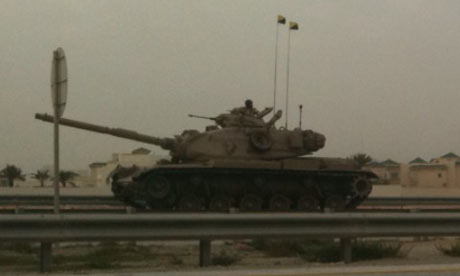 Bahrain army tanks