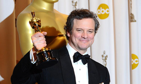 Colin Firth with his best actor Oscar