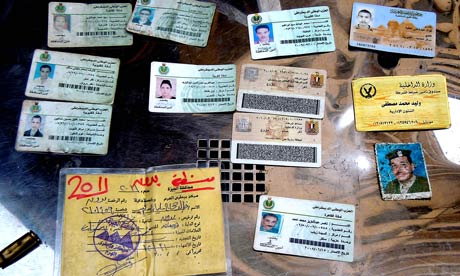 Egyptian ID cards indicating NDP membership.