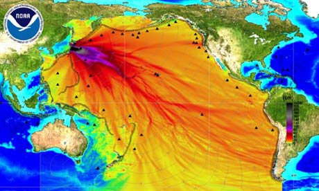 Japan tsunami: NOAA energy map shows the intensity of the tsunami