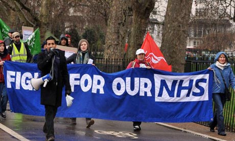 NHS protest march and rally