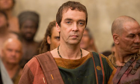 John Hannah as Batiatus in Spartacus: Gods of the Arena
