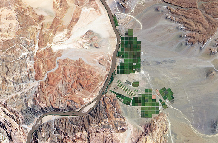 Agricultural Pattern: The Orange River irrigation project