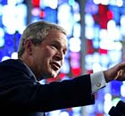 US President George W. Bush speaks at Un