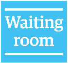 Staff room and Waiting room logos