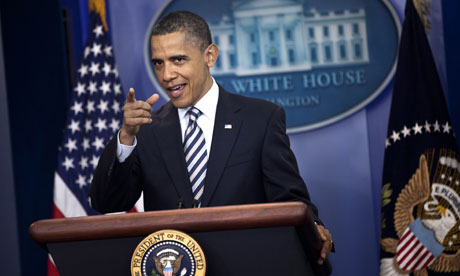 President Barack Obama speaks to the press in the Briefing Room about his birth certificate
