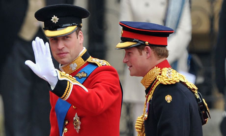 Royal Wedding: Prince William and Prince Harry arrive at Westminster Abbey