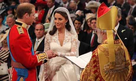 Royal Wedding: Prince William and Kate Middleton exchange rings