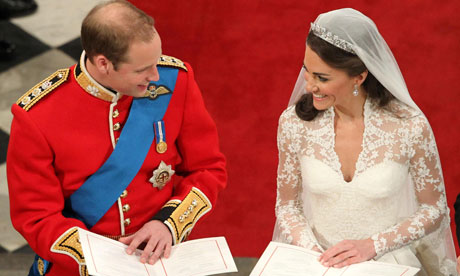 Royal Wedding: Prince William and Kate Middleton read during their wedding service