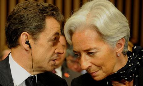 Nicolas Sarkozy and Christine Lagarde