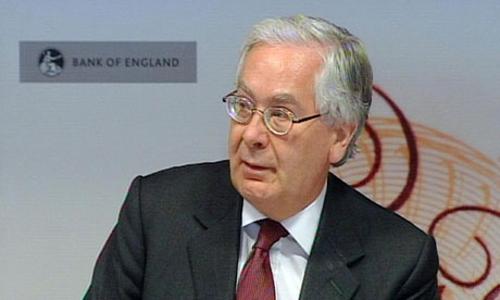 Mervyn King press conference