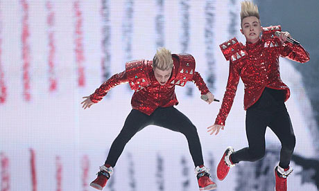 Eurovision Song Contest Dusseldorf 2011- Jedward rehearse