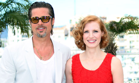 Brad Pitt and Jessica Chastain, stars of The Tree of Life