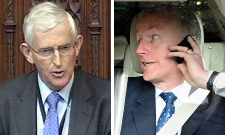 Fred Goodwin, right, and Lord Stoneham