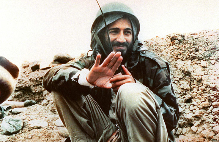 Osama bin Laden: 1989: Osama Bin Laden in Afghanistan during the war with Russia