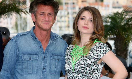 Sean Penn and Eve Hewson a the Cannes film festival photocall for This Must Be The Place