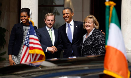 Barack Obama and first lady Michelle Obama at Farmleigh House in Dublin
