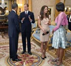 Barack Obama and Michelle meet Prince William and his wife Catherine