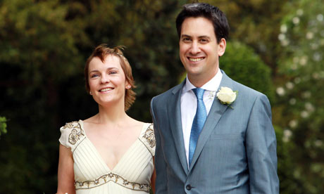 Ed Miliband and his wife Justine Thornton after their civil wedding, Nottinghamshire