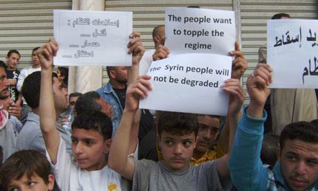 Protesta en Banias, Siria